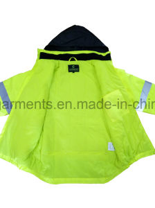 5 in 1 Men′s Hi-Viz Reflective Safety Protective Jacket Apparel Waterproof Workwear pictures & photos