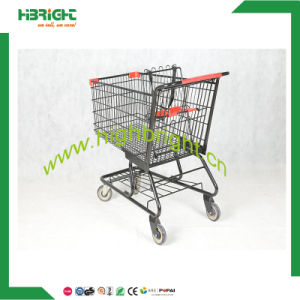 4 Wheels Metal Supermarket Shopping Trolley for Sale pictures & photos