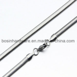 Stainless Steel Mens Flat Snak Chain pictures & photos