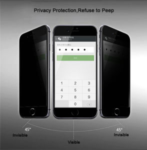High Quality 3D Full Covered Anti-Spy Privacy Tempered Glass Screen Protector for Apple iPhone 6/6 Plus pictures & photos