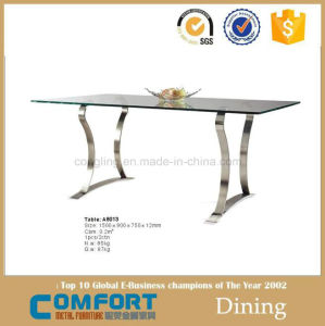 Modern Stainless Steel Base Marble Top Dining Table on Sale (A8013)