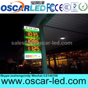 "8"" 10"" 12"" 16"" 18"" Red Green Yellow White Color Ultra-Slim Outdoor LED Gas Price Sign"