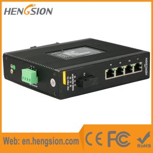 1 Fiber & 4 Port Rugged Industrial Ethernet Network Switch pictures & photos