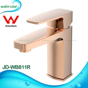 Brass Water Mixer Tap Rose Gold Basin Faucet for Bathroom pictures & photos