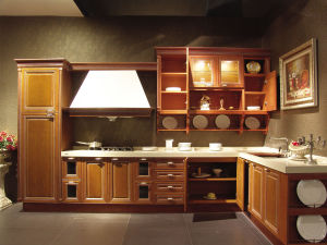 Hot Sale Village Solid Wooden Kitchen Cabinet pictures & photos