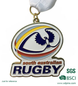 High Quality Factory Price Custom Rugby Logo Medal (w-235) pictures & photos