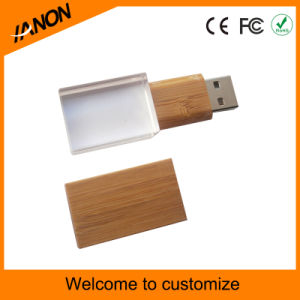 Crystal Wooden USB Flash Drive Transparent USB Pen Drive with Laser pictures & photos