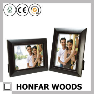 Glossy Black Wood Picture Photo Frame with Mat for Decoration pictures & photos
