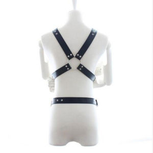 2016 Top Sell 1 PCS/Lot Leather Studs Elastic Bondage Harness Sexy Lingerie with Gift, Sex Clothes Fetish Sex Game Toys for Men pictures & photos