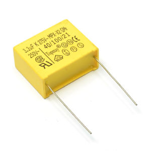 Yellow 0.033UF 275VAC X2 Metallized Polypropylene Film Capacitor Tmcf18-2 for Power Switch pictures & photos
