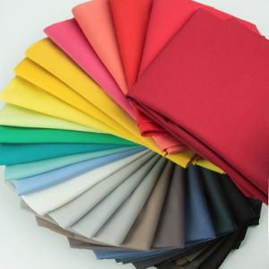 100% Solid Color Poplin Cotton Fabrics 100 M