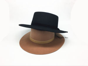 Bowler New Fashion Wide Brim Lady Hat with Bowknot for Woman pictures & photos
