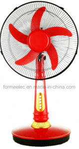 "16"" AC DC Table Fan 15W Desk Electrical Fan with LED pictures & photos"