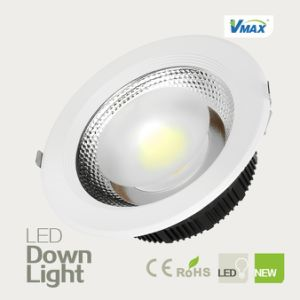 High Brightness Recessed High CRI COB Light Source TUV CE Driver 45W LED Downlight pictures & photos