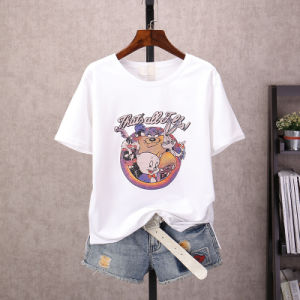 The Spring and Summer 2017 Cartoon Printed Cotton Round Collar Short Sleeve T-Shirt of Women pictures & photos
