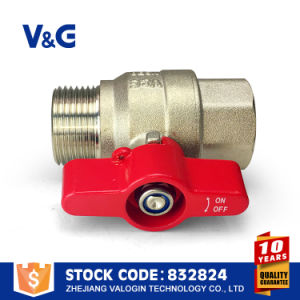 Brass Water Valve with Aluminum Butterfly Handle (VG10.99761) pictures & photos