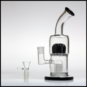 "2017 New Arrivals Toro Glass 12"" Bubbler 8 Arms Tree Hookah Hand Blown Heady Tobacco Water Pipes Smoking with Discs and Big Pipe pictures & photos"