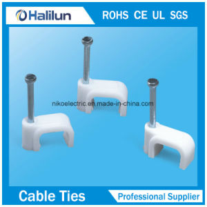 Cheaper PP Circle Cable Clips with Steel Nail pictures & photos