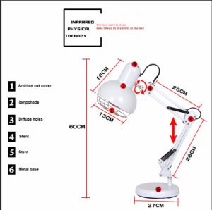 Physical Therapy Red Infrared Lamp for Ovarian Care pictures & photos