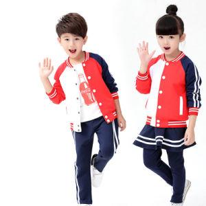 Spring Kids Clothes Set Primary School Uniform Designs pictures & photos