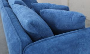 High Quality Fabric with Feather Cushion 3 Seat Sofa pictures & photos
