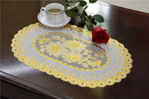 30*46cm PVC Lace Gold Tablemat Popular Use Coffee/Wedding/Party pictures & photos