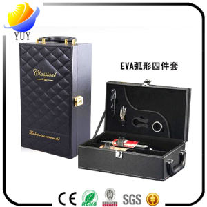 Custom Printing Logo High Quality Packaging PU Leather Wine Box pictures & photos