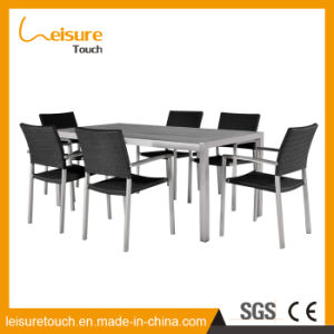 2016 Designs New Products Dining Room Garden Furniture Backrest Complete Set Table and Chair pictures & photos