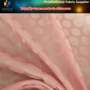 Jacquard Satin, Polyester DOT Hacquard Fabric, Satin Fabric pictures & photos