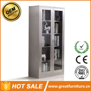 Stainless Steel File Cabinet Cheap Storage 2 Doors 5 Tiers Filing Cabinet pictures & photos