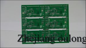 Hal Double Sided PCB with Green Solder Mask pictures & photos