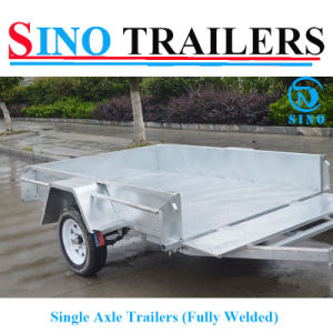 Australian Chequer Fully Welded Single Axle Trailers pictures & photos