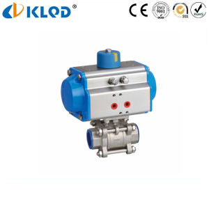3 PCS CF8m Stainless Steel Pneumatic Ball Valve 3 Inch pictures & photos