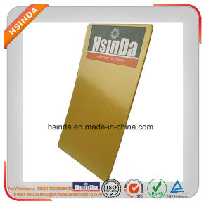 Particle Size Uniform Metallic Epoxy Gold Yellow Paint Powder Coating pictures & photos
