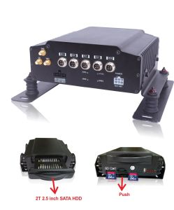 4CH Car Black Box Mobile DVR, Supports Dual SD Cards and Hard Disk pictures & photos