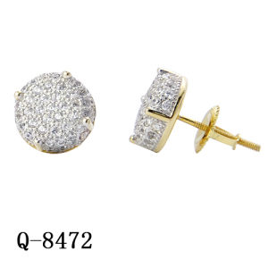 14k Gold Two Tone Plated Hip Hop Jewelry Earrings pictures & photos