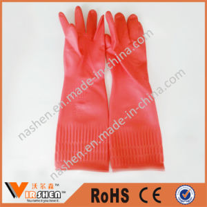 Anti-Slip Latex Household Cleaning Gloves pictures & photos