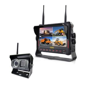 """7"""" DVR Monitor with Quad Split Screen Supports SD Card for Recording pictures & photos"""