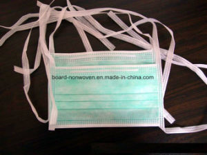China Manufacter Supply Disposable Nonwoevn 3-Ply Face Mask with Tie pictures & photos