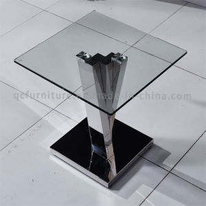 latest Design Clear Tempered Glass Top Corner Side Table pictures & photos