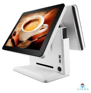 15/17 Inch True Flat Capactive Touch POS, Single or Double Screen POS Terminal Optional