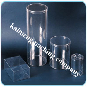 Promotional Package Clear PVC Plastic Cylinder Bottles