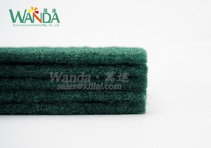 Bow-Tie Shape Household Cleaning Abrasive Green Scour Pad Scouring Pad pictures & photos