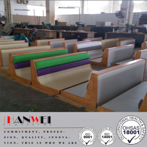 Wood Frame Steel Base PU Finished Bench Carriage Seat Wooden Furniture pictures & photos
