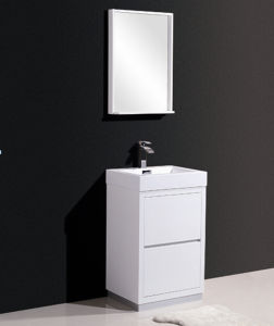 Chipboard Painting Bathroom Cabinet (white matt(WH) Black Matt (ES))