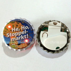 Custom LED Light Button Pin with Logo Printed (3569) pictures & photos