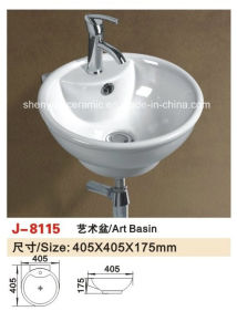 Sanitary Ware Bathroom Fitting Wall Hanging Basin Bathroom Sink (J-8020) pictures & photos