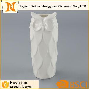 Ceramic Unique Owl White Decorative Tall Vase pictures & photos