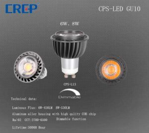 Hot Selling 6/8W LED Light Fixture GU10 Spotlight with Die Cast Body pictures & photos