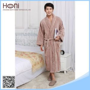 China Supllier Wholesale New Design Customized Size Striped Bathrobe